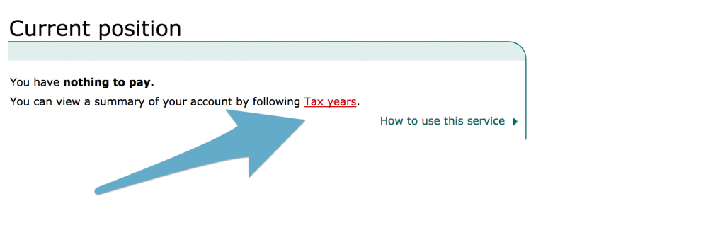 How to get your SA302 / Tax Year Overview